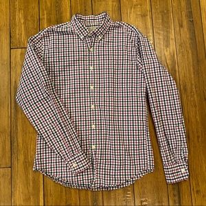J. Crew plaid button front shirt
